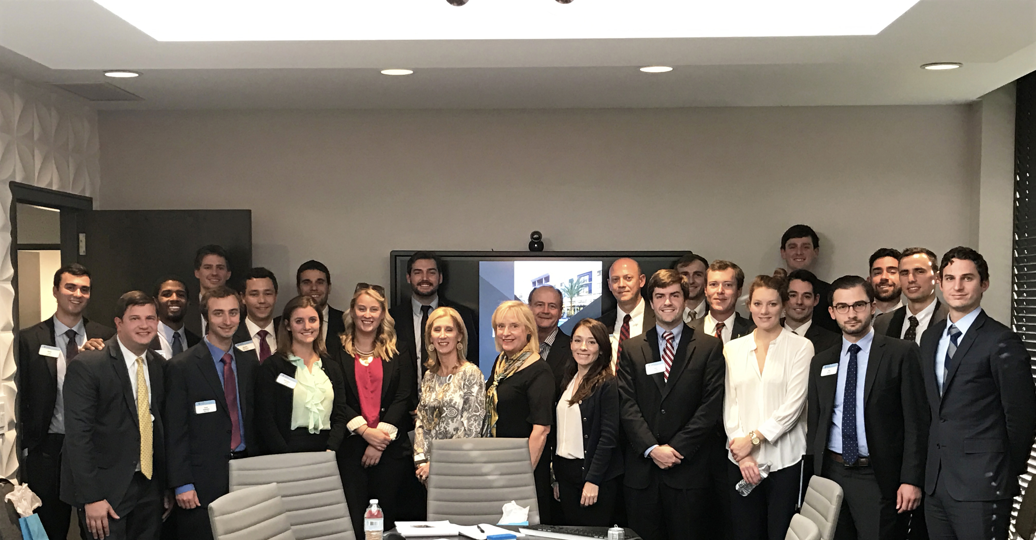 The Preiss Company New Business Development Leadership hosts students from the UNC Chapel Hill MBA program